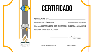 Certificado do Ano Bíblico Jovem